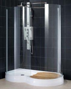 Beautiful Doorless Circular Shower