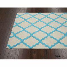 nuLOOM Hand-hooked Alexa Moroccan Trellis Wool Rug (5' x 8') | Overstock.com