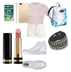 """Spring!!! #22"" by sydnaiqueenz on Polyvore featuring Cushnie Et Ochs, Yves Saint Laurent, Converse, JanSport, Apple and Gucci"