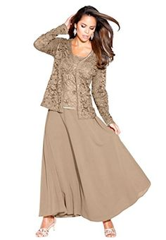Looking For A Formal Plus Size Dress The Fit And Flare Lace - Plus Size Jacket Dress For Wedding