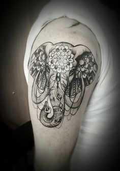 Elephant mandala tattoo