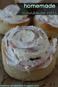 MOMMY ON DEMAND: Homemade Cinnamon Rolls