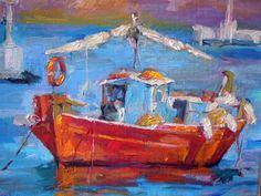 Boat in Mikonos Harbor