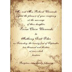 wedding invitation?