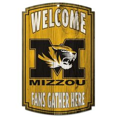 Missouri Tigers Fans Welcome Wooden Sign Vintage Sign Shack Wood Signs