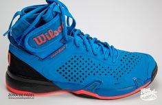 Zapatillas Wilson Amplifeel 2017 en azul y rojo