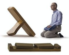 These beautiful, modern, foldable solid hardwood stools offer great support during meditation. Available in solid walnut, cherry and oak.