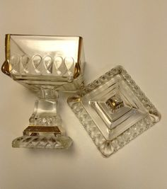 Jeanette Glass Square Covered Wedding Dish by EmbracetheEarth