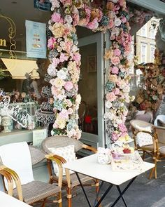 Over-sized Silver Ornate Mirror Makeover - Step Inside My Handbag Coffee Shop Design, Cafe Design, Deco Restaurant, Restaurant Design, Silver Ornate Mirror, Flower Cafe, London Cafe, Cute Cafe, Mirror Makeover