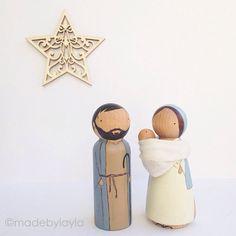 Nativity Set van madebylayla op Etsy