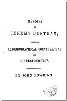 The works of Jeremy Bentham. -  Edinburgh : William Tait, 1843. Correspondence.
