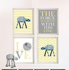 Baby Boy Star Wars Nursery Art Boy Room Decor by StarWarsPrintShop, $32.00