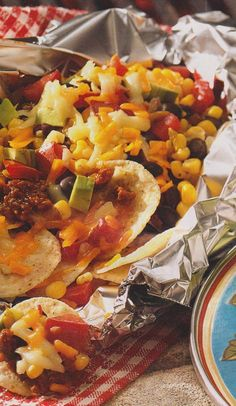 Tex-Mex Nacho Packets.... dinner in foil packets in the oven... easy recipe  easy clean up...win, win,,,