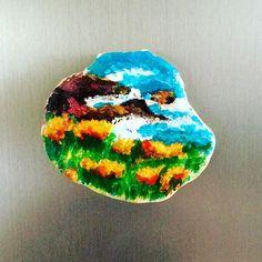 #stone #taş #taşboyama #landscape #magnet