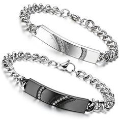 Couple, Belt, Personalized Items, Amazon, Bracelets, Silver, Jewelry, Silver Color, Stainless Steel