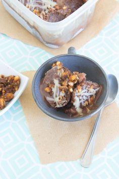 Chocolate brittle ice-cream {vegan + gluten-free} via Marfigs' Munchies