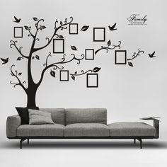 DIY Family Photo Frame Tree Home Decor Wall Stickers Plus Size Decals Removable Vinyl Stickers Home Decoration Vinyl Wallpapers