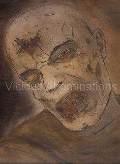 Horror Print Tormented Alexander X Art Zombie Dawn Of The Dead Alive Evil Blood