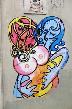 Paris 18 - rue des saules - street art - Nice art