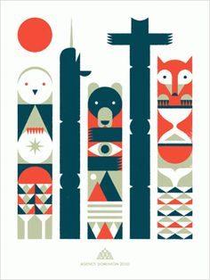 simple illustration totems