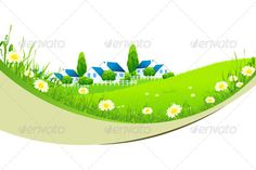 Green Landscape with Village  #GraphicRiver         Landscape with Village. The Concept of Healthy Life. Fully editable EPS 8 file.     Created: 11April13 GraphicsFilesIncluded: VectorEPS Layered: No MinimumAdobeCSVersion: CS Tags: background #blue #building #bush #chamomile #environment #field #flower #grass #green #health #home #horizon #house #isolated #land #landscape #lush #meadow #nature #outdoor #spring #summer #tree #village