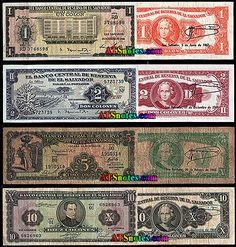 el salvadore currency | El Salvador banknotes - El Salvador paper money catalog and Salvadoran ...