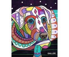 60% Off White labrador Retriever Art dog Art by HeatherGallerArt