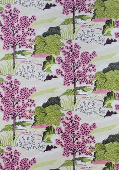 DAINTREE EMBROIDERY, Fuchsia, W785002, Collection Greenwood from Thibaut