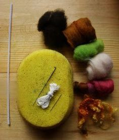 Needle felted gnome tutorial using pipe cleaner armature.