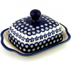 Polish pottery butter dish S991A