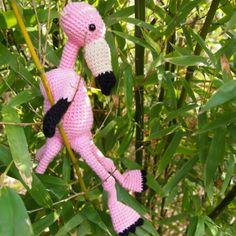flamant rose au crochet