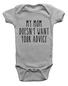 Funny Kids Shirts, Baby Shirts, Funny Baby Clothes, Funny Babies, Babies Clothes, Babies Stuff, Baby Sleep, Baby Bodysuit, Onesie