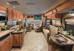 Camper trailers are costly, but sometimes a used horse trailer isn't. Lightweight travel trailers have come to be the most pursued trailers for everyo. Travel Trailer Interior, Motorhome Interior, Rv Interior, Luxury Rv, Luxury Yachts, Lightweight Travel Trailers, Rv Motorhomes, Vintage Rv, Home Comforts