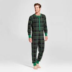 Men s Pajama Onesie Green Plaid - Hearth  amp  Hand™ with Magnolia at  Target c6e2de3ab