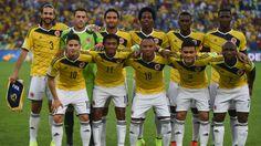 Formación inicialista de la Selección Colombia vs. Uruguay.
