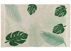 tapis enfant avec une feuille tropicale