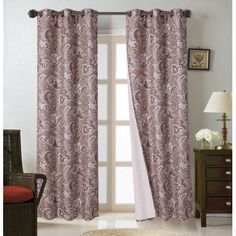 Printed Microfiber Blackout Foam Backing Curtains with Bronze Grommets are the perfect combination of fashion and function. They provide privacy manage light reduce noise and help with energy savings. Plus they bring style to any room. These beautiful panels offers blackout benefits and features an updated traditional design with a rich microfiber texture. Set Includes: 2pc Panel 37 W x 84 L each  - Room Darkening Curtains - Ideas of Room Darkening Curtains #RoomDarkeningCurtains Room Darkening Curtains, Traditional Design, Save Energy, Ikea, Bronze, Texture, Printed, Beautiful, Home Decor
