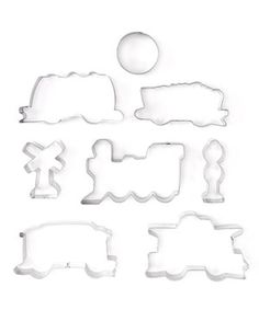 Baking cookies is the perfect quality-time activity with a little one—so why not stock up on cookie cutters to make a dessert day even more special? This fun assortment makes it just as exciting to stamp out rolled dough as it is to decorate the imaginative shapes together afterward.