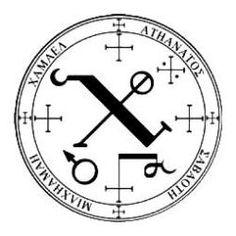 Engel-Siegel von Erzengel Chamuel nach dem Grimoire von Armadel (ein franz.christl. Textbuch der Magie aus dem 13.Jhr.)