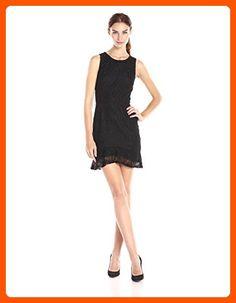 BB Dakota Women's Elene Ruffle Lace Dress, Black, 2 - All about women (*Amazon Partner-Link)