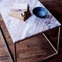 Mira Coffee Table - Swirled Sorbet | west elm