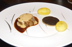 tete de veau and filet, truffle,Grand Cru Indriya from India Sauce - Emmanuel Renaut