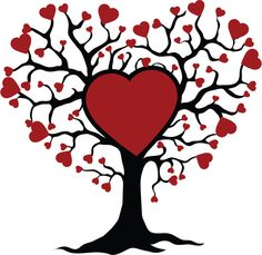 Tree of life with hearts by Livelifecreation on Etsy