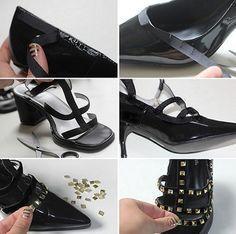 zapatos tachuelas valentino caseros proceso