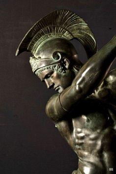 Corybante Stifling the Cries of Jupiter. 1878. detail - Louis Leon Cugnot. French 1835-1894. bronze.