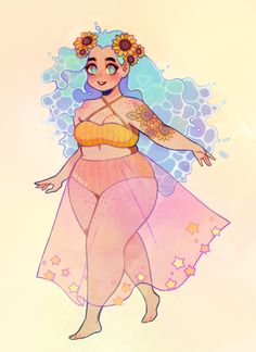 Character design job based on the prompts: Beach, Sunflower and Ster . - Character design job based on prompts: beach, sunflower and star …, - Character Design Jobs, Character Art, Character Design References, Cute Art Styles, Cartoon Art Styles, Bel Art, Art Du Croquis, Art Style Challenge, Arte Do Kawaii
