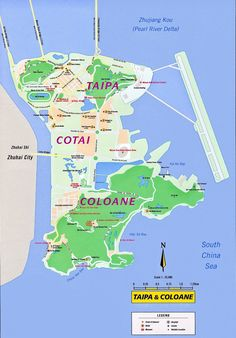Taipa and Coloane Tourist Map - Taipa Macau • mappery