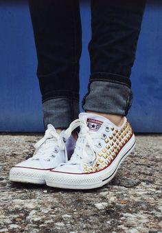 4152df332b3c DIY  studded Converse White Converse
