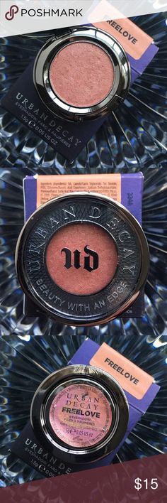 NWT! Urban Decay Eyeshadow in Freelove NWT! Urban Decay Eyeshadow in Freelove. A Golden Vibrant Peach. Shimmer Finish, NO Glitter. Urban Decay Makeup