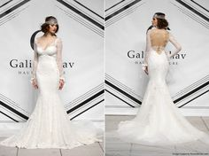 Galia Lahav Fall 2015 lace trumpet wedding gown with long illusion ...